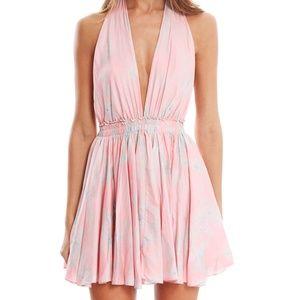 LoveShackFancy Halter Mini Dress - Size 1 / S